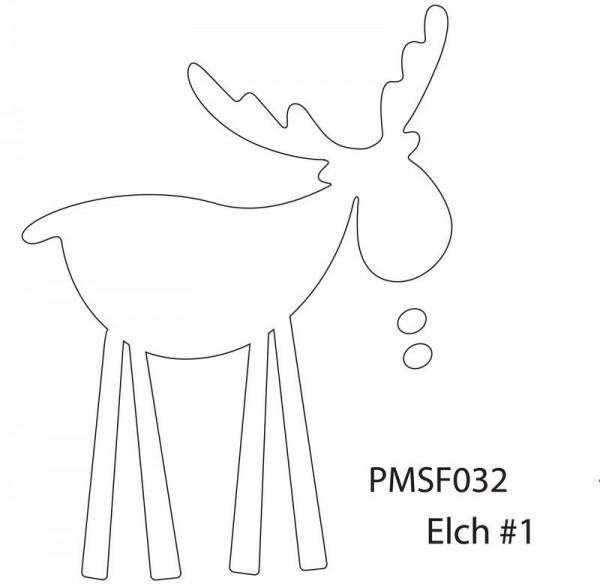 Eigendesign Elch # 1 klein PMSF 032 SM