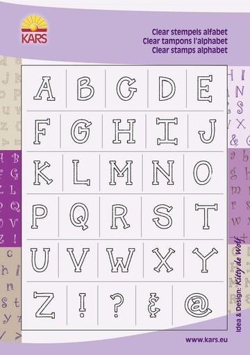 Clear Stamps Alphabet Großbuchstaben Block