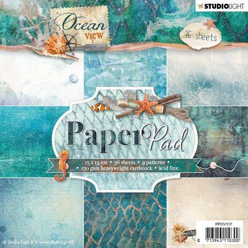 Studio Light Paper Pad 15 cm x 15 cm OCEAN VIEW PPOV117