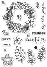 Memorybox Clearstempel-Set Christmas Botanicals CL5187