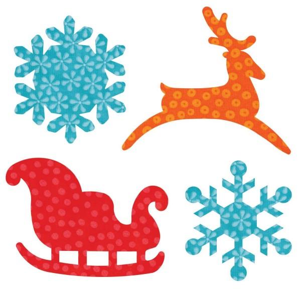 Stanzform Go ! sleigh & snowflakes 55322