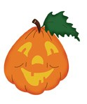 Kürbis lustig / happy pumpkin 0495