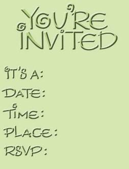 Cuttlebug Prägefolder Einladung / invitation 37-1233