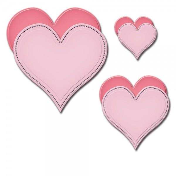 Spellbinders Stanzform Herzen gepunktet / Pierced Hearts SCD-025 / 4292403