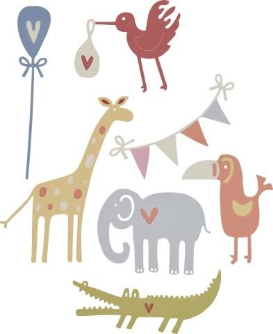 Sizzix Thinlits Stanzform Baby-Tiere / Baby Animals 661226
