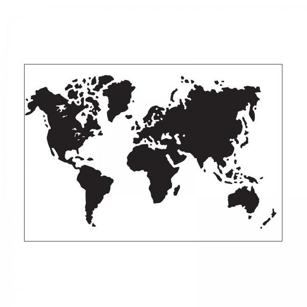 Darice Prägefolder Weltkarte / World Map 30032529