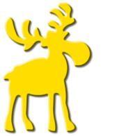 Motivstanzer Groß Elch stehend ( gelb ) UR 1949 00 78
