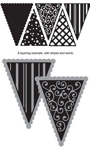 Die-Versions Stanzform Whispers Party Pennants 1 DVS-4x8-112