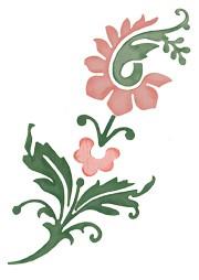 Damask flower 0348