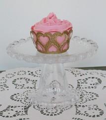 Muffin-Verpackung mit Herzen / heart cup cake wrapper 0715