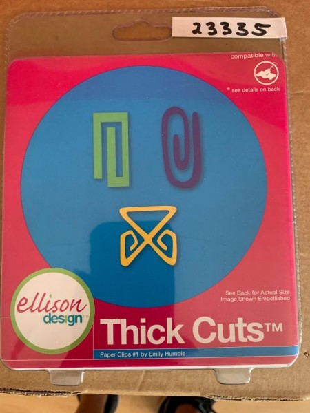 Ellison Design Thick Cuts Stanzform Paperclips # 1 / paper clips # 1 23335