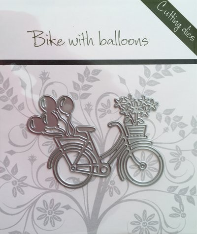 Romak Stanzform Fahrrad mit Luftballons / Bike with balloons 817155