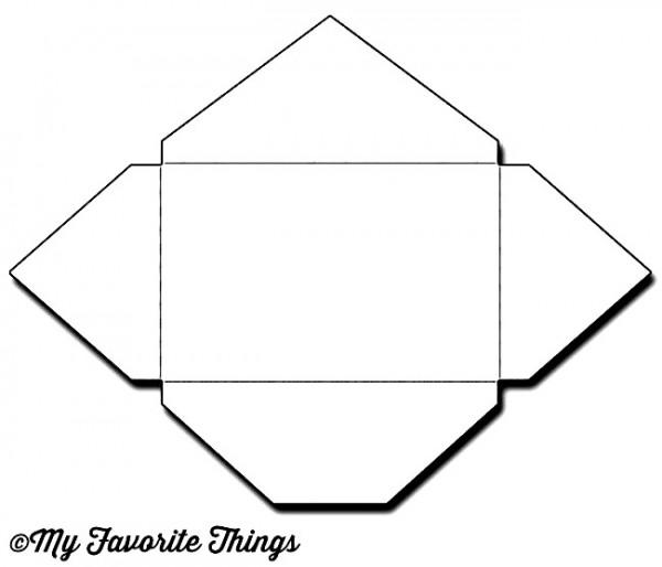 Dienamics Stanzform Umschlag 8,8 cm x 5,6 cm / Gift Card Envelope MFT-1152