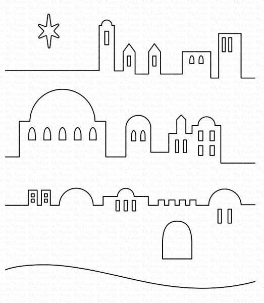 Dienamics Stanzform Little Town of Bethlehem MFT-1610