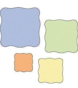 Cuttlebug Stanzform 4-er Set KLEIN Quadrate groß-gewellter Rand / wavy squares 37-1219