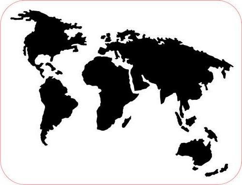 Pronty Foam Stempel Weltkarte / World Map 494.001.006