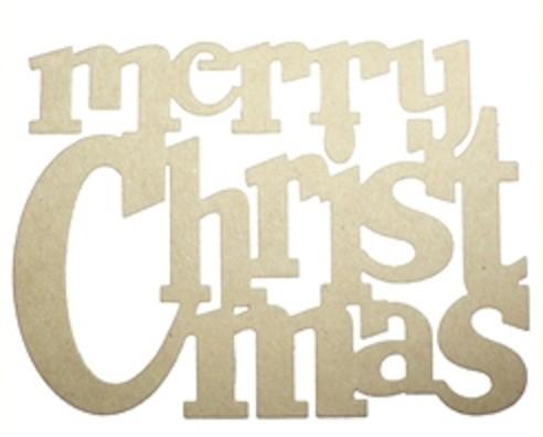 "Die-Versions Stanzform "" merry Christmas "" DVJ-054"