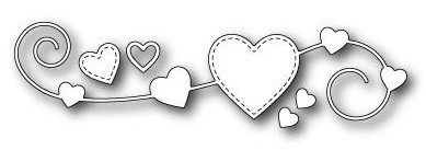 Memorybox Stanzform Homespun Heart 99374