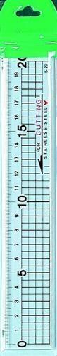 Lineal transparent mit Metallkante 20 cm 116232/0020