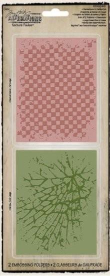 Sizzix Prägefolderset Checkerboard & Cracked 656646
