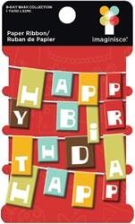 Happy Birthday Papier-Band BDB-PR 2371