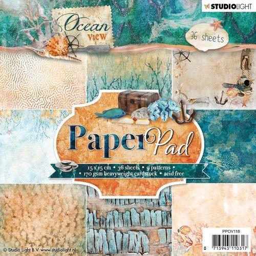 Studio Light Paper Pad 15 cm x 15 cm OCEAN VIEW PPOV118