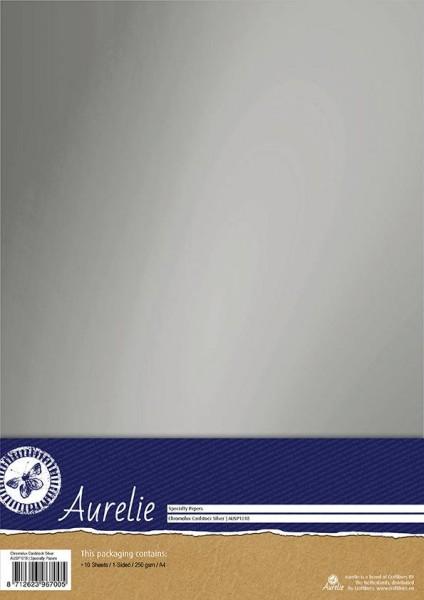 Aurelie Chromolux Cardstock A4 SILBER AUSP1018