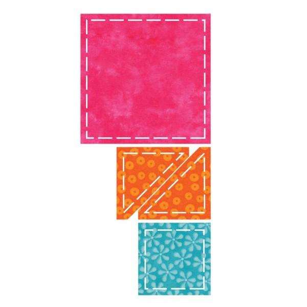 Stanzform Go ! 2 Quadrate u. 2 Dreiecke / Value die 55018