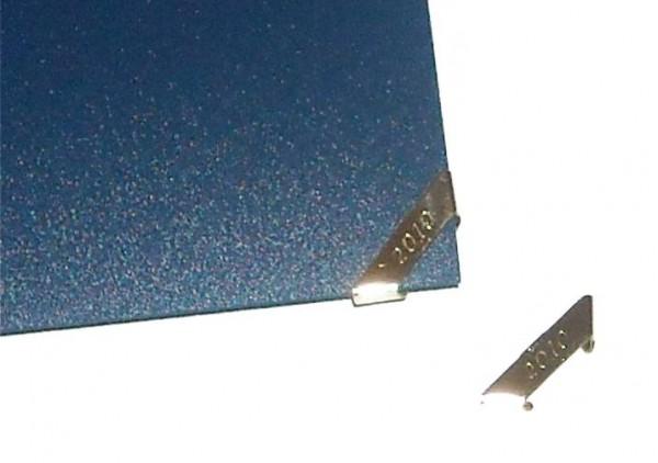 Metallplakette SILBER Jahreszahl 2010 10575