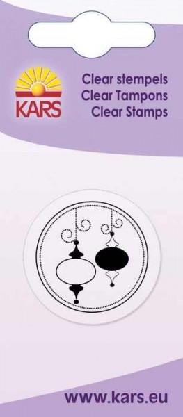 Clear Stempel Kreis Weihnachtskugeln länglich 180009/2035