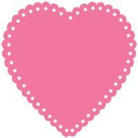 Herz mit Löcher / eyelet scalloped heart 0960
