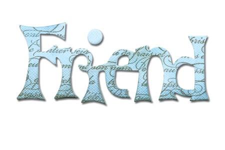 """Sizzix Stanzform Originals MEDIUM """" Friend """" phrase friend 656567"""