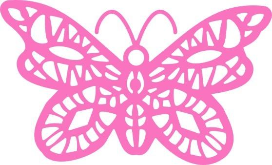 Cheery Lynn Oriental Butterfly Doily DL105