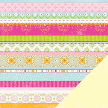 "Papier Flitter Pattern Stripe Flutter 12 "" x 12 "" 33775"