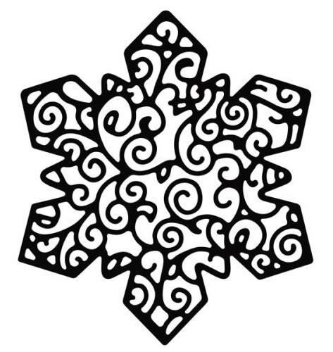 Die-Versions Stanzform Schneeflocke / Delicate Snowflake DVW-395