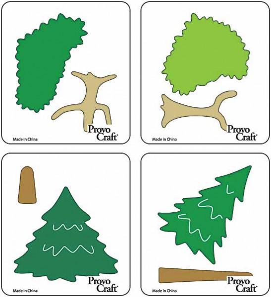 Cuttlekids 4-er Set Bäume / trees 62-0033