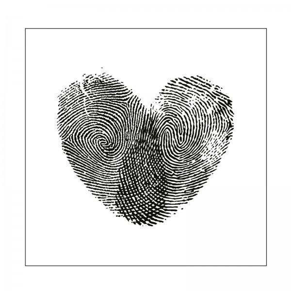 Mundart Stempel Pragefolder Fingerabdruck Herz Mv Ps 461