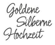 Rayher Stanzform ' golden silberne Hochzeit ' 60-581-000