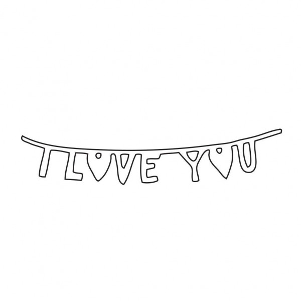 Savvystamps Stanzform ' I LOVE YOU ' Banner 10193