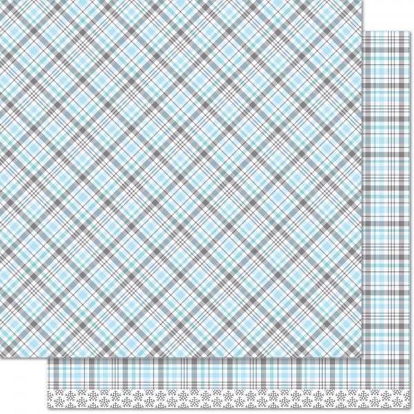 "Lawn Fawn Scrapbook-Papier Perfectly Plaid 12 "" x 12 "" Walrus ( tauben-blau ) LF1251"