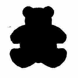 MakeMe Motivstaner medium Teddy-Bär 115635/5105 ( grün )