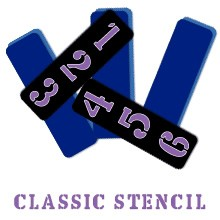 Alphabar Classic Stencil Zahlen 38-1169
