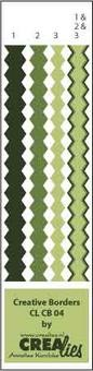 Crealies Creative Borders # 4 ( grün ) CLCB-04