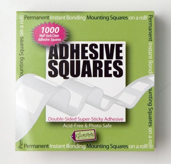 permanente Klebepunkte Quadrat auf Rolle P-00938