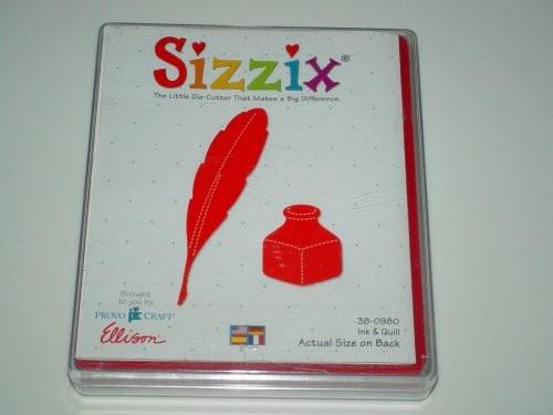 Sizzix Stanzform Originals LARGE Feder und Tinte / ink and quill 38-0980