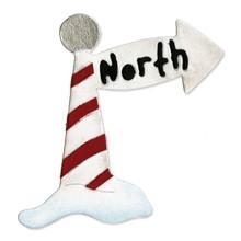 Sizzix Stanzform Sizzlits SMALL 1-er Nordpol-Schild / North pole sign 655244