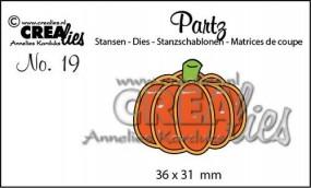 Crealies Partz Nr.19 Kürbis breit / pumpkin CLPartz19