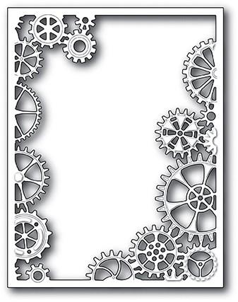 Memorybox Stanzform Rahmen mit Zahnräder / Gearworks Frame 99961