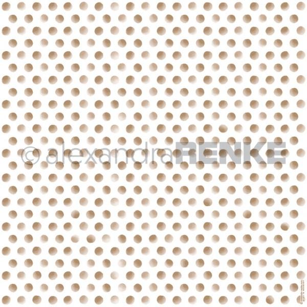 Alexandra Renke Designpapier ' Punkte Gold ' 10.501