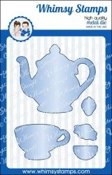 Whimsy Stamps Stanzform Teekanne u. Teetasse / Time For Tea Additions WSD279s